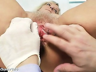 Close up Doctor Hairy Granny Hairy Granny Pussy Gyno