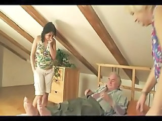 Family Old And Young Threesome Family Mature Threesome Old And Young