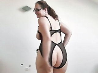 Glasses Lingerie Ass