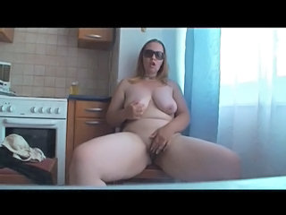 Masturbating Homemade Kitchen