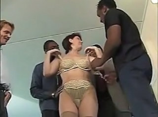Gangbang Interracial Calces Llenceria