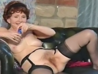 British Vintage Hairy British European Granny Hairy