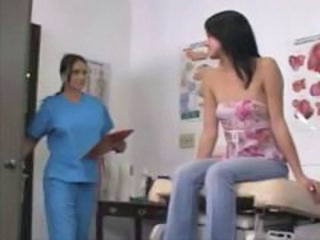 Stephanie sees Dr Valentine to check out her ass and pussy with lesbian sex later.