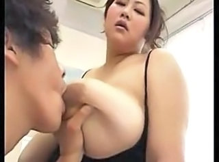 Japanes beautiful bbw having big hot tits fucks with a guy