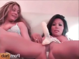 Teanna Kai And Chasey Lain Have A Little Lesbian Fun With A Strap-on Dildo