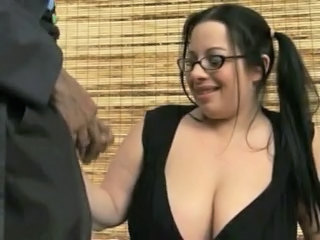 Big Tits Brunette Glasses