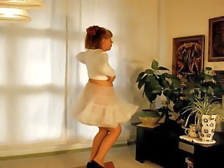 Skirt Dancing Homemade Amateur Crazy Grandma