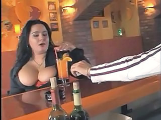 Big Tits Horny Lady Fucks In The Bar