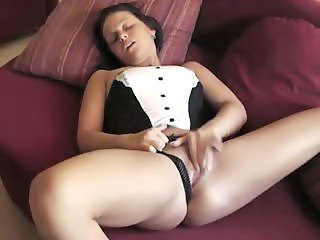 Sexy Brunette And Great Orgasm