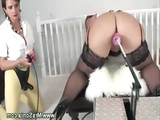 Mature Mistress Takes Control Over Dildo