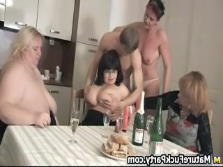 Drunk Groupsex Kitchen