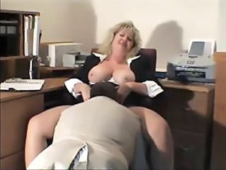 Older Secretary Licking
