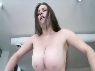 Cumshot On Huge Tits For Busty Babe