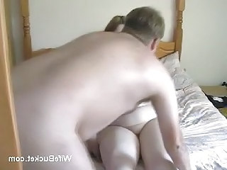 Chubby couple homemade fuck