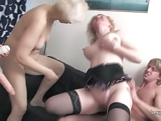 3 old grannies fucked by 1 guy