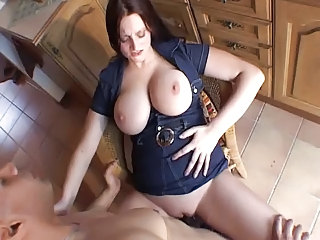 Clothed Kitchen MILF