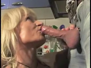 German Kitchen Blowjob Blowjob Mature European German