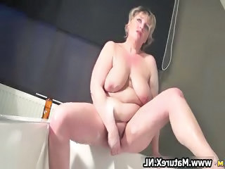 Mom Bathroom BBW