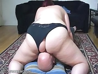 Chubby Mistress Sits Her Big Fat Ass On A Man's Face