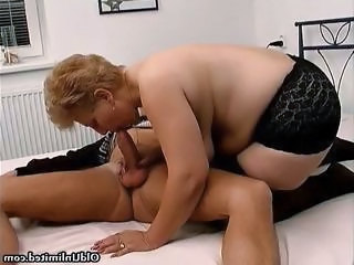 Fat Old Mom With Big Tits Loves Sucking...