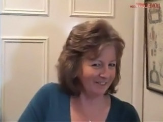 Adorable British Granny Enjoys A Good Wank, masturbation  brunette  milf...