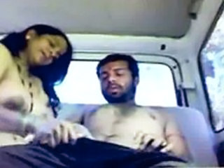 Indian HOT aunty in car