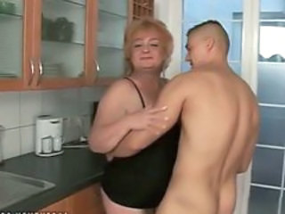 Old And Young Kitchen Mom Granny Sex Granny Young Kitchen Sex