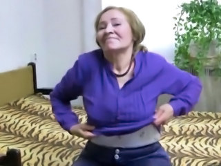 OldNanny Old granny is playing with young man and sextoy