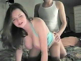 Chubby girl with nice bouncing tits