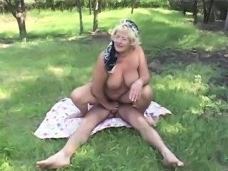 Old And Young BBW Outdoor Ass Big Tits Bbw Mature Bbw Mom