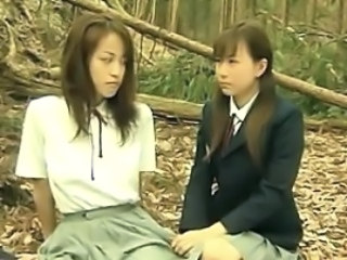 Outdoor Student Teen Asian Lesbian Asian Teen Forest