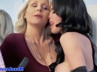 Lezdom mistress seducing blonde sub