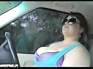 Car BBW Big Tits