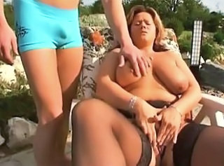 Chubby Milf gets fucked outside _: bbw matures milfs