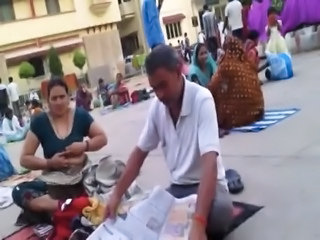 Outdoor Public Indian Aunt Aunty Boobs