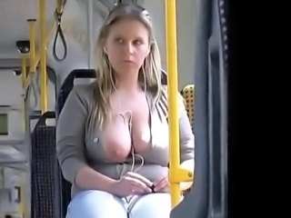 Bus Big Tits Public