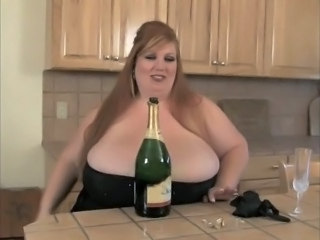 Drunk Kitchen Big Tits