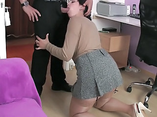 Clothed Stockings Blowjob