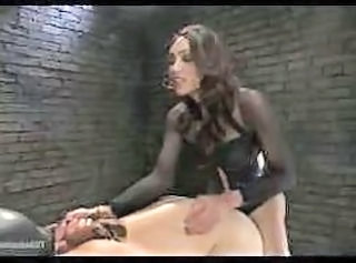 Video from: tube8 | Shemale Domme Fucks Masked Slave