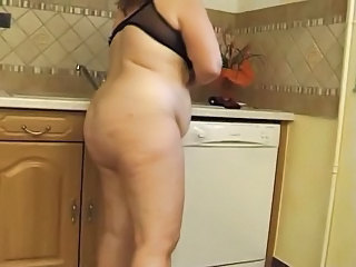 Kitchen Amateur BBW