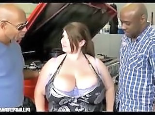 Interracial BBW Big Tits