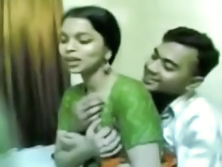 Homemade clip with Indian GF's boobs