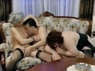Vintage Threesome German Blowjob Mature European German