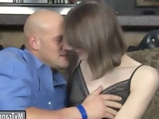 Video from: hardsextube | Slender tranny Birdmountain anal pounded with bald dude