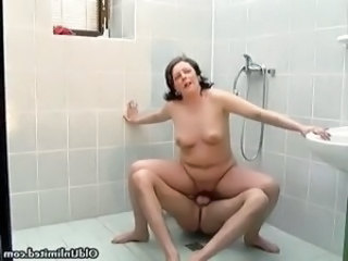 Nasty old woman rides an hard cock part5