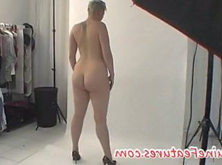 Backstage with chubby blonde czech girl _: casting