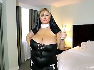 Plumper Pass: Samantha Self Service _: monster boobs chubby big nipples big natural tits nun big ass uniform