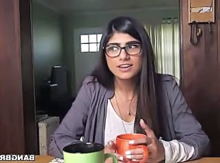 Mia Khalifa's first encounter with monster cocks _: big natural tits