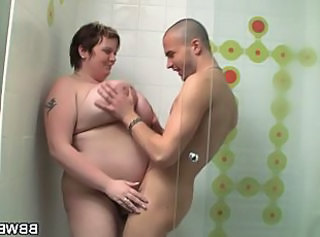 BBW mature gets banged hard by a young stud