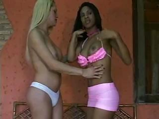 Ebony Threesome Latina